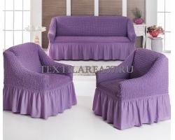 Чехлы на мягкую мебель Диван + 2 кресла