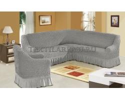 Чехлы на мягкую мебель Угловой диван+кресло
