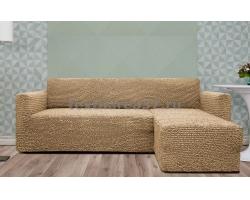 Чехлы на мягкую мебель Угловой диван с оттоманкой