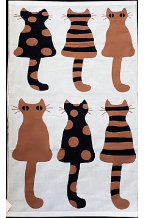 "Полотенце ""Кошки"" 34*74 (лен+хлопок) вид 4"