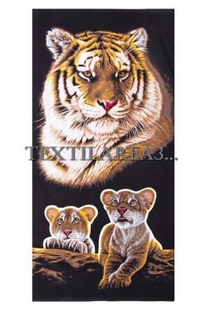 """Полотенце пляжное """"Тигр"""" вид 4"""