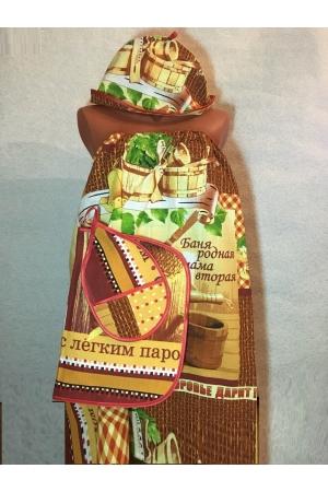 """Набор для сауны вафельный """"Баня родная"""""""