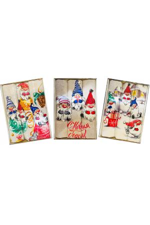 Набор  полотенец рогожка подарочный «Год 2022 новогодние гномики»