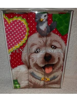 Набор вафельных полотенец подарочный «Год Собаки N1»