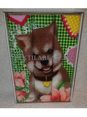 Набор вафельных полотенец подарочный «Год Собаки N10»