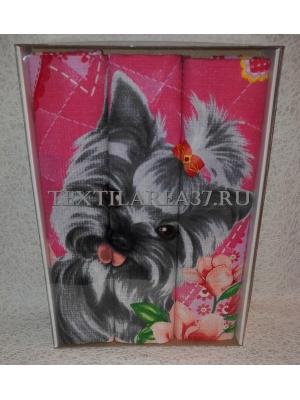 Набор вафельных полотенец подарочный «Год Собаки N12»