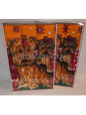 Набор вафельных полотенец подарочный «Год Собаки N2»