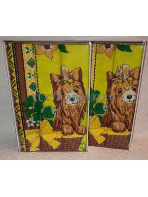 Набор вафельных полотенец подарочный «Год Собаки N24»