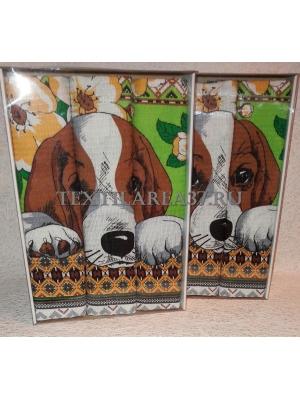 Набор вафельных полотенец подарочный «Год Собаки N25»