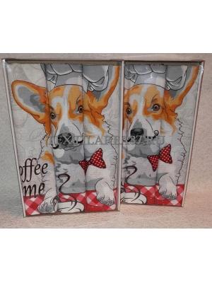 Набор вафельных полотенец подарочный «Год Собаки N3»