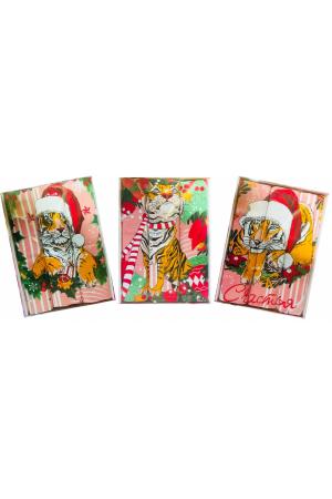 Набор вафельных полотенец подарочный «Год 2022 тигр» 2