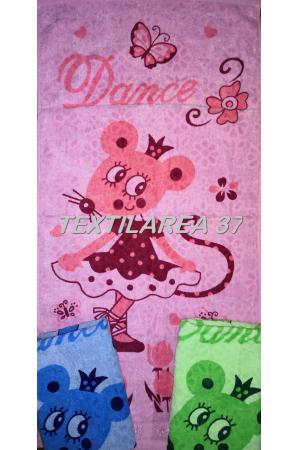 """Полотенце махровое цветной велюр """"Мышка Dance"""" 34*76"""