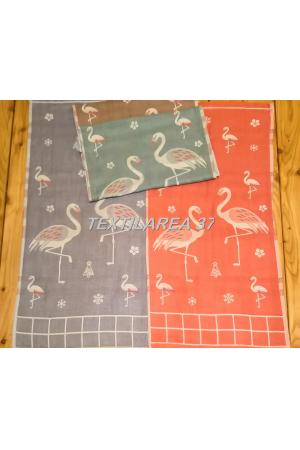 """Полотенце """" Фламинго"""" 70*140 (лен+хлопок) вид 5"""