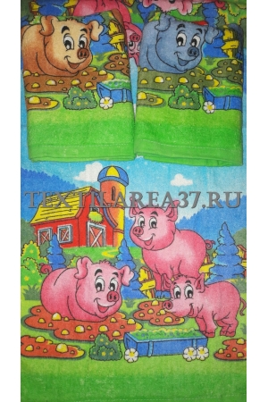 "Полотенце махровое ""Год Свиньи"" вид 8 50*100"