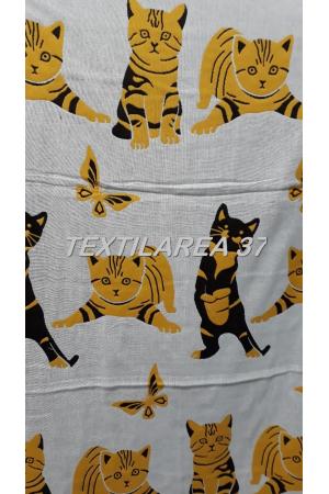 "Полотенце ""Кошки"" 70*140 (лен+хлопок) вид 10"