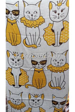 "Полотенце ""Кошки"" 70*140 (лен+хлопок) вид 11"