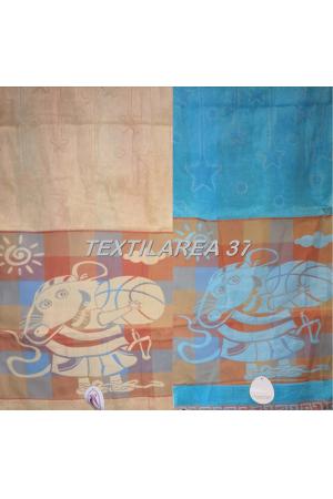 """Полотенце махровое """"Символ Года 2020"""" 34*76 вид 3 (лен+махра)"""