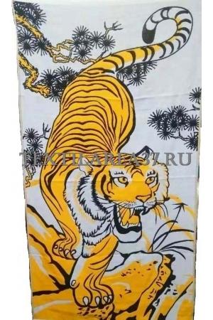 "Полотенце ""Тигр"" 70*140 (лен+хлопок)"
