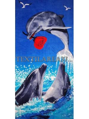 """Полотенце пляжное """"Дельфины"""" вид 16"""