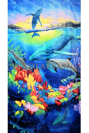 """Полотенце пляжное """"Дельфины"""" вид 23"""
