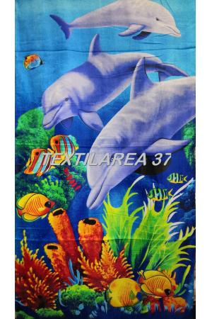 """Полотенце пляжное """"Дельфины"""" вид 24"""