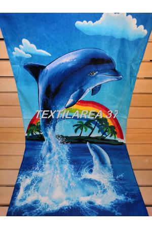 """Полотенце пляжное """"Дельфины"""" вид 26"""