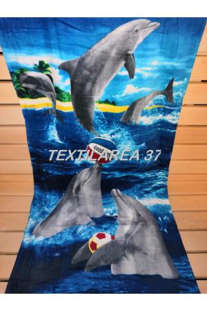 """Полотенце пляжное """"Дельфины"""" вид 27"""