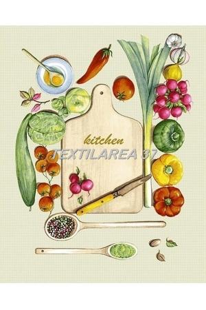 """Полотенце кухонное рогожка  """" Кухня"""" вид 3"""