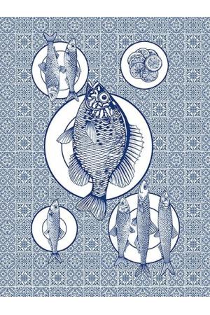 """""Полотенце рогожка кухонное "" богатый улов"" вид 3"