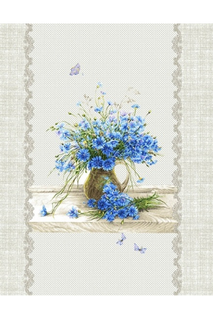 """""""""""Полотенце рогожка кухонное """" полевые цветы"""" вид 1"""