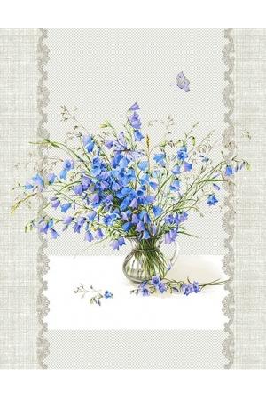 """""""""""Полотенце рогожка кухонное """" полевые цветы"""" вид 3"""
