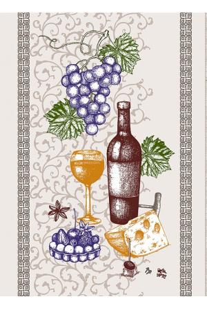 """Полотенце рогожка кухонное 43-61 """"вино"""" вид 1"""