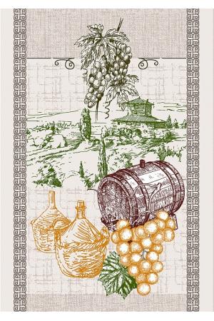 """Полотенце рогожка кухонное 43-61 """"вино"""" вид 3"""