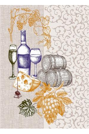 """Полотенце рогожка кухонное 43-61 """"вино"""" вид 4"""