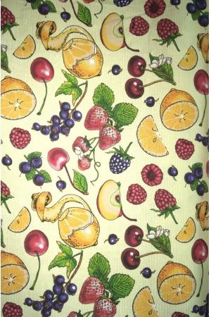 """Полотенце вафельное кухонное кайма """"Тропические фрукты 2"""""""