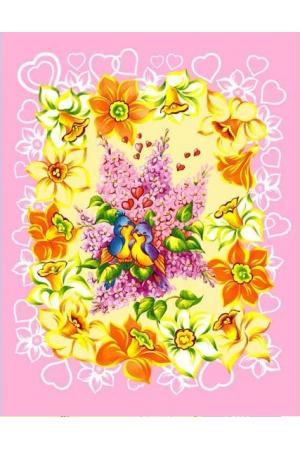 """Полотенце вафельное кухонное """" Цветы Вид 5"""""""