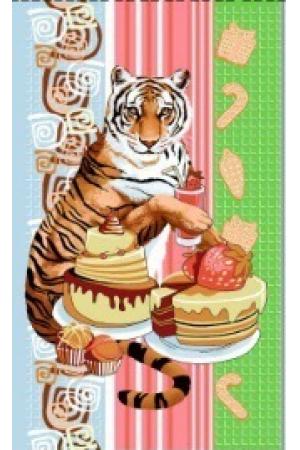 "Полотенце вафельное кухонное 35*61 ""Год тигра 2022""-ф5"