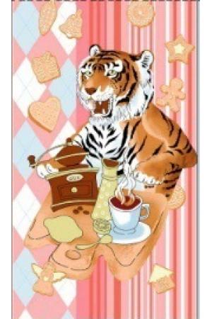 "Полотенце вафельное кухонное 35*61 ""Год тигра 2022""-ф7"