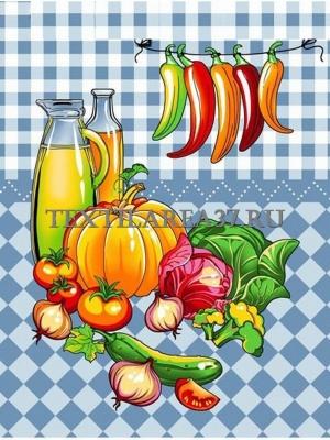"""Полотенце вафельное кухонное """"Овощи""""13"""