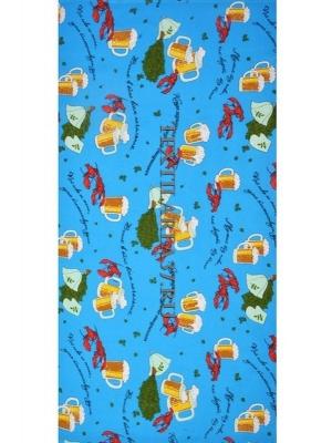 Полотенце вафельное банное «Раки-пиво» вид 3