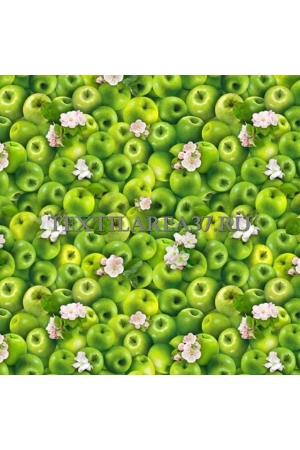 """Скатерть рогожка """"Яблоки"""" 150 х 180 см"""