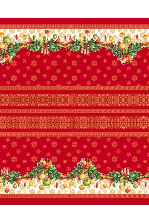 "Скатерть рогожка "" Рождество"" 150 х 120 см"