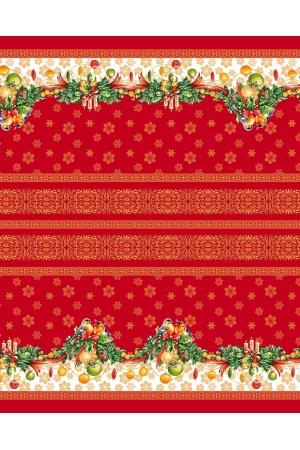 "Скатерть рогожка "" Рождество"" 150 х 220 см"