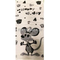 """Полотенце """"Мышки"""" 70*140 (лен+хлопок) вид 1"""