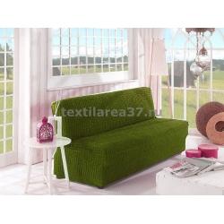Чехол на трехместный диван без подлокотников 03 (зеленый)