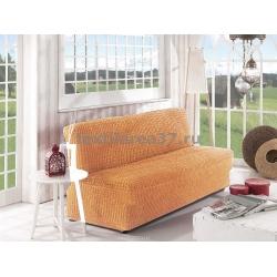Чехол на трехместный диван без подлокотников 05 (медовый)
