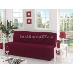 Чехол на трехместный диван без подлокотников 14 (бордовый)