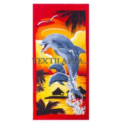 """Полотенце пляжное """"Дельфины"""" вид 10"""