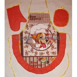 Набор кухонный «Фартук, варежка, прихватка» Год Собаки вид 10