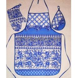 Набор вафельный «Фартук, варежка, прихватка» вид 24